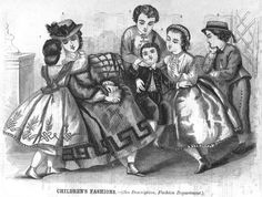 Civil War Era Clothing: Civil War Era Children's Fashion - June 1864 Godey's Lady's Book