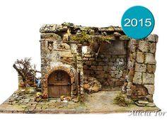 Belenes artesanos para figuras de 12 cm Nativity Stable, Ceramic Houses, Stables, Firewood, Portal, Aquarium, Patio, Home Decor, Tela