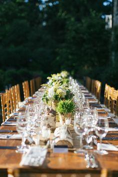 rustic centerpieces | backyard wedding | Blooming Grove, PA