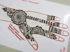 "YouTube gulf style mehndi henna design tutorial art for beginners. Khaleeji style. Search ""Nidhi's MehndiART"" YouTube channel for all kind of mehndi henna design tutorial. #fashion #jewellery #trend #bridal #bride #wedding #marriage #festival #tradition #beautiful #girl #london #paris #canada #us #india #surat #ahmedabad #uk #arabic #floral #gulf #dubai #henna #mehndi #mehandi #art #drawing #tattoo #design"