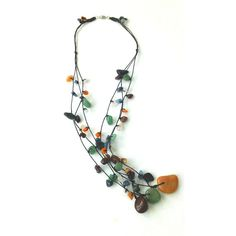 Multicolor Multistrand Stone Necklace with Three by Franca&Nen  #francaandnen