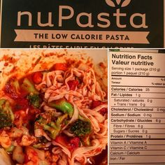 I just found the best thing ever!!! 25 Calorie Pasta 6g of carbs which are all FIBRE!  Just add some sauce and veggies, and you have the tastiest and lowest calorie pasta ever Great find! #NuPasta