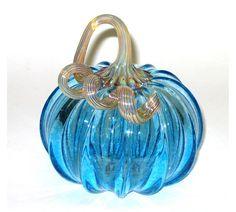 Hand Blown Glass Pumpkin by HansonArtGlass on Etsy, $45.00