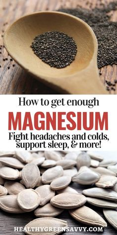 Magnesium benefits & foods high in magnesium: Are you getting enough magnesium? Magnesium is involved in hundreds of bodily processes, affecting everything from nerve and muscle function to sleep. Magnesium Vorteile, Foods High In Magnesium, Magnesium Benefits, Magnesium Deficiency, Cold Home Remedies, Natural Health Remedies, Herbal Remedies, Natural Cures, Natural Foods