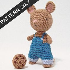 PATTERN Cookie Mouse Amigurumi Crochet Plush PDF by icrochetthings
