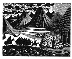 "Pictures from an Old Book: ""The Hobbit"", JRR Tolkien (first published in 1937 by George Allen & Unwin). Illustrations by Eric Fraser"