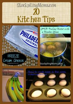 20 Kitchen Tips to save you time and money! A must pin!