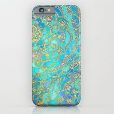Buy Sapphire & Jade Stained Glass Mandalas by micklyn as a high quality iPhone & iPod Case. Worldwide shipping available at Society6.com. Just one of millions of products available.