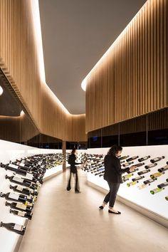 Studio Arthur Casas designed the Mistral Wine and Champagne Bar in São Paulo, Brazil.