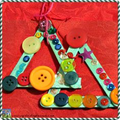 Popsicle Stick Tree with Buttons - Crystal's Tiny Treasures