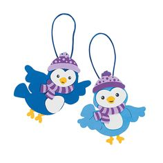 Winter Bird Christmas Ornament Craft Kit - OrientalTrading.com