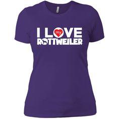 I Love My Rottweiler - Next Level Ladies' Boyfriend Tee