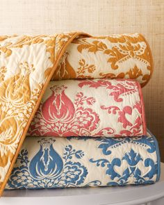 Amity Home Damask Quilted Bed Linens - Horchow