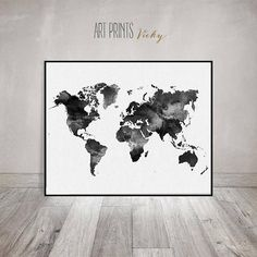 Wanderlust world map print world map poster world map art shop artprintsvicky for unique city skylines and map posters from around the world enjoy worldwide gumiabroncs Gallery
