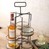 Kalalou Whiskey And Highball Caddy With Four Removable Wooden Coasters Whiskey Gifts, Wooden Coasters, Cocktail Glass, Tasting Room, Clever Design, Wine Storage, Dot And Bo, So Little Time, Timeless Design
