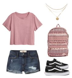 """""""Back to school outfit"""" by madisenharris on Polyvore featuring H&M, Hollister Co., Vans and Billabong"""