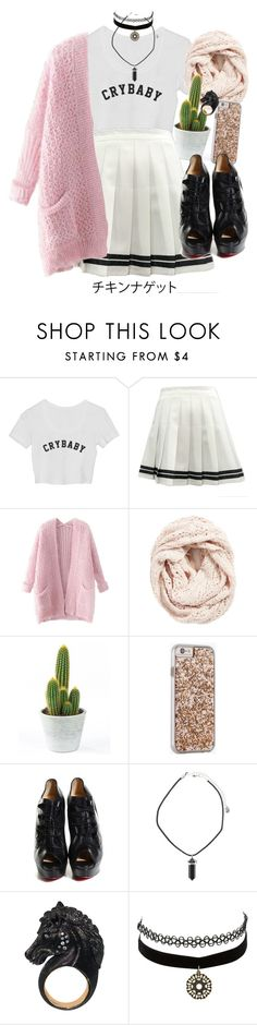 """""""You are f*cking idiot.."""" by nemes-margareta-anna ❤ liked on Polyvore featuring Chicnova Fashion, Lemon, Case-Mate, Christian Louboutin, Nisan and Charlotte Russe"""