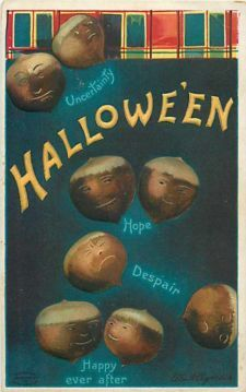 Halloween Acorns Postcard