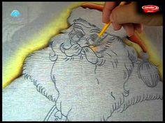 Pintando um Papai Noel Parte 1/2 Pintura no Tecido