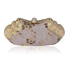 Satin Shell With Rhinestone Evening Bag Handbag Purse Clutch – USD $ 28.99
