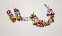 flov design: bracelet and earrings for summer..