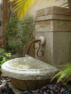 Fonte agua torneira ferro
