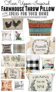 Fixer Upper-Inspired Low Cost Accent Farmhouse Throw Pillows | Wisconsin Homemaker - If you want the farmhouse look for your home decor, then you'll definitely love these Fixer Upper-Inspired Low Cost Accent Farmhouse Throw Pillows. via @wihomemaker