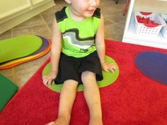 """use placemats to help keep kiddos in """"their"""" space during circle time"""
