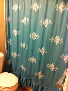 Refashioned Sheet Shower Curtains | AllFreeSewing.com