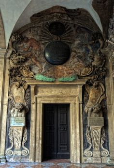 Scott D. Haddow - Archiginnasio, Bologna (2011). The Library: built between 1562 and 1563 AD. The ceilings and walls are decorated with the family coat of arms of the instructors who taught here