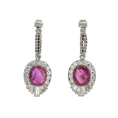 Ruby & Diamond Art Deco Earrings available at Windsor Jewelers, Inc. in New York City