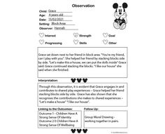 Observation Mickey - Aussie Childcare Network Aussie Childcare Network, Block Area, Stacking Blocks, Early Education, Kid Names, Being Used, Templates, Let It Be, Children