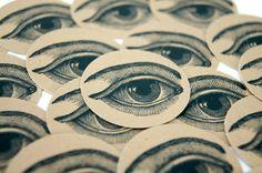 Envelope Seals Sticker Large Human Eye Anatomical by PinkiesPalace, $5.00