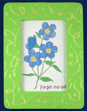 sunday school Forget-me-not Picture Frame bible craft from www.daniellesplace.com