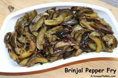 Brinjal Pepper Fry or Pepper Brinjal Fry is a one of my favorite side dish with a medley of two ingredients that highlights this fry – Brinjal and Pepper.
