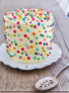 FUN RECIPE WORLD : *****Polka Dot Icing Cake With Strawberry & Rhubarb