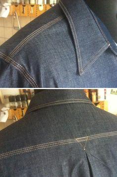 The 1920s Denim Shirt crafted by myself @HarbourDenim - Detail
