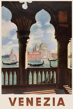 guide venezia Retro travel poster Vintage travel poster for Portugal. Paris For The Weekend vintage travel poster Old Poster, Retro Poster, Poster Poster, Vintage Italian Posters, Vintage Travel Posters, Venice Travel, Italy Travel, Photo Vintage, Vintage Art