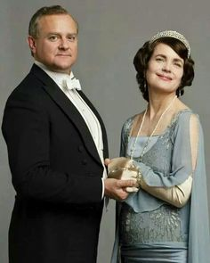Downton Abbey, Robert and Cora. lord and lady Grantham