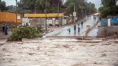 03/25/2015 - Two dead as flash flooding hits Chile Atacama desert region