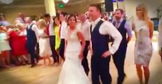 When these girls started an Irish jig at this wedding, I thought they were trying to steal the show. But when the bride and groom joined in I couldn't help but smile. This is a wedding dance like I've NEVER seen!