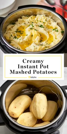 Instant Pot Mashed Potatoes Recipe, Mashed Potato Recipes, Instant Potatoes, Baked Potatoes, Cheesy Potatoes, Pressure Cooker Mashed Potatoes, Hasselback Potatoes, Skillet Potatoes, Gastronomia