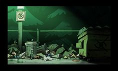 "Artworks of Jeffrey M. Thompson | Some BG's from ""Soos and the Real Girl"". Soos's..."