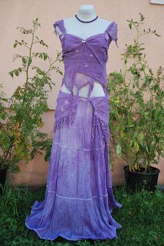 Lavendel Fee 3-teiliges Nymphen Outfit Kunst Gürtel von Feenglut