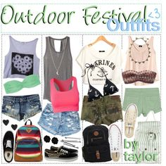 """""""Outdoor Festival Outfits"""" by the-polyvore-tipgirls on Polyvore"""
