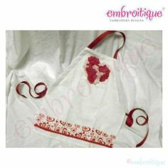 Shabby Sweet Ruched Designs - ITH Shabby Sweet Heart Applique and Apron Instructions on sale now at Embroitique!