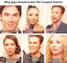 Why guys should watch The Vampire Diaries.because of the hot chicks! lol so funny Serie The Vampire Diaries, Vampire Diaries Poster, Vampire Diaries Wallpaper, Vampire Diaries Damon, Vampire Diaries Quotes, Vampire Diaries The Originals, Citations Vampire Diaries, Stefan E Caroline, Caroline Forbes