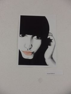 picture of myself made by my best friend on my birthday and displayed on her exhibition