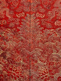 Detail of Festival Robe, Qing dynasty (1644–1911), 19th-century. The Metropolitan Museum of Art, New York