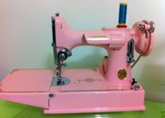 My pink featherweight!!  I love her!
